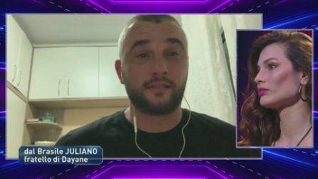 Grande Fratello VIP - La telefonata di Juliano, il fratello di Dayane Mello