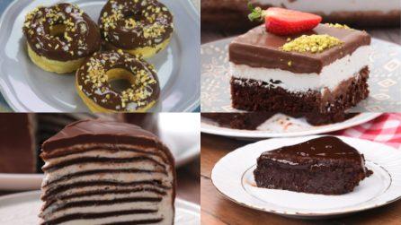 4 Dolci al cioccolato facili e veloci e pieni di cioccolato!