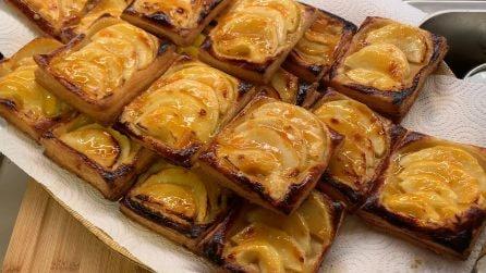 Sfogliatine alle mele: il dessert veloce e davvero delizioso