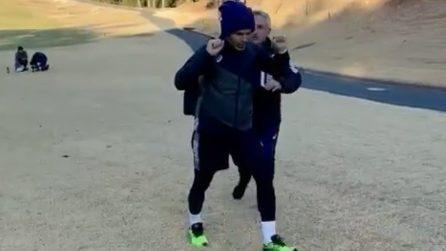 L'allenamento speciale di Andres Iniesta