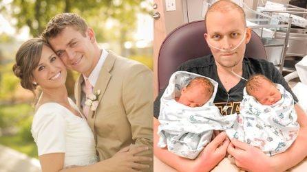 Questo papà malato di cancro ha assistito al suo miracolo personale: la nascita dei suoi gemelli