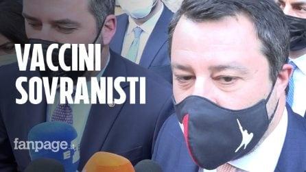 """Salvini: """"Sui vaccini non possiamo aspettare l'Europa, usiamo Sputnik e facciamo come l'Austria"""""""