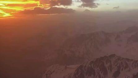 La sabbia del Sahara arriva su Alpi e Pirenei e ricopre il bianco della neve
