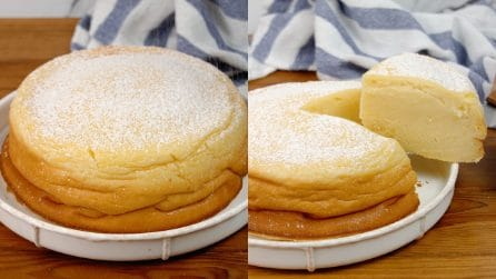 Pudding cake: high and very soft, you will fall in love with this dessert