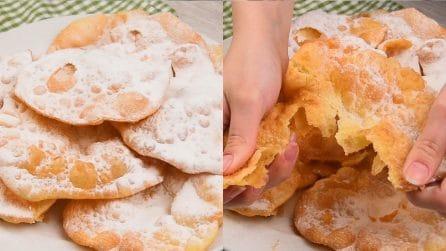 Frittelle alla panna: leggere, golose e piene di bolle!