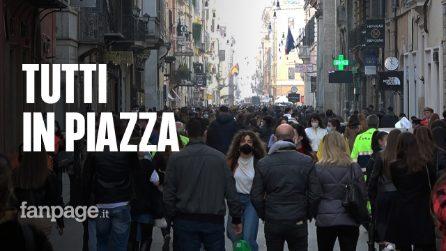 """Roma, folla in centro per il week end: """"Qualche assembramento c'è ma la situazione sembra più regolare"""""""