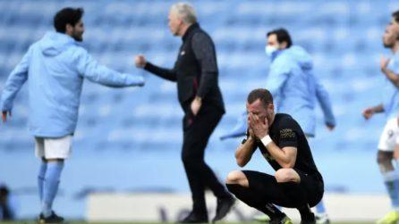 Mancano il pareggio all'ultimo minuto: il calciatore scoppia in lacrime