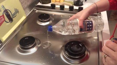 Come pulire il piano cottura con un solo ingrediente