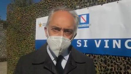 """Covid, a Caserta il più grande centro vaccinale della Campania: """"Occasione di rinascita"""""""