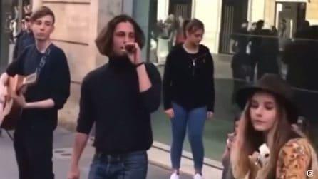 I Maneskin in strada a Roma prima del successo a X Factor e Sanremo