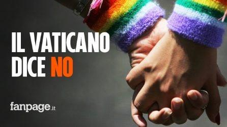 """Il Vaticano dice no: """"La benedizione delle unioni omosessuali non può essere considerata lecita"""""""