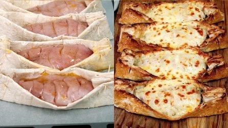 Barchette di piadina con pollo e formaggio: una ricetta originale e sfiziosa!