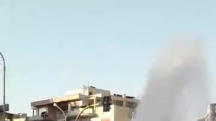 Enorme geyser sulla Gianicolense: operai al lavoro per riparare la perdita