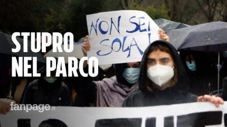 """Stupro nel parco di villa Gordiani, la rabbia dei cittadini: """"Non sei sola"""""""