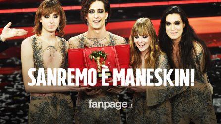 Sanremo 2021, i Maneskin sono i vincitori della 71esima edizione del Festival