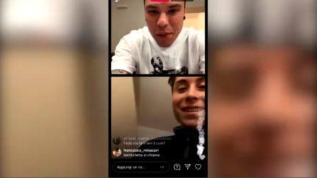 """Sanremo 2021, Fedez in diretta su Instagram: """"Sei Orietta Berti?"""" """"No, sono Lorenzo da Roma"""""""