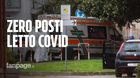 """Scafati, zero posti letto e oltre 1300 casi Covid: """"Ambulanze in coda per ore davanti all'ospedale"""""""