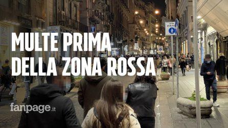 Napoli prima della zona rossa: ragazzini in strada ma controlli e multe