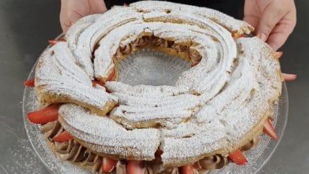 Paris-brest, la ricetta del delizioso dessert di pasta choux