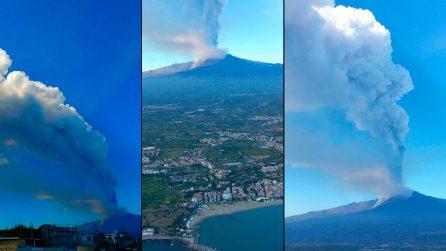 Etna, nuova eruzione: le immagini dal drone sono spettacolari