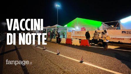 """Roma, all'hub di Fiumicino partono i vaccini in fascia notturna: """"Pronti a vaccinare h24"""""""