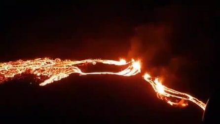 Islanda, l'eruzione vulcanica a soli 40 km da Reykjavik