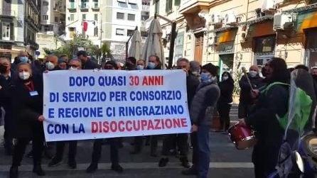 I dipendenti Giraservice rischiano di perdere il lavoro da aprile, protesta in Regione