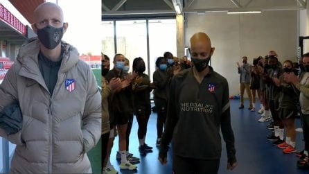 Virginia Torrecilla torna all'Atletico Madrid dopo il tumore al cervello: l'accoglienza è commovente