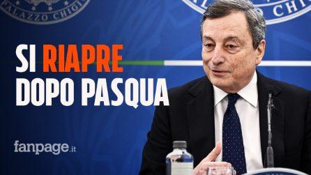 """Draghi annuncia riaperture subito dopo Pasqua: """"Si partirà dalla scuola con infanzia e primarie"""""""