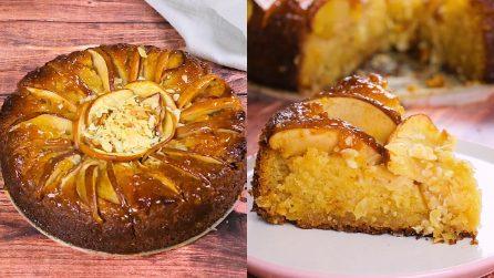 Torta di mele e mandorle: buona e fragrante, la adorerai al primo morso!