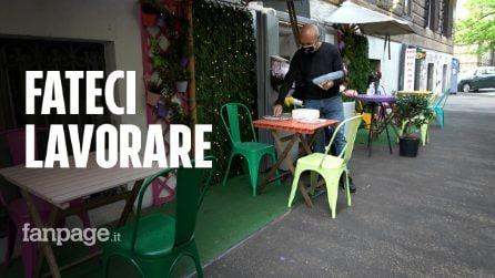 """Ristoratori aprono per protesta: """"Scontri a Montecitorio? Ci dissociamo e non siamo negazionisti"""""""