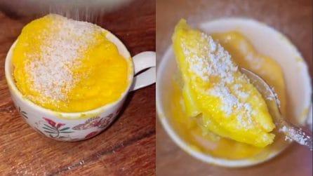 Un dolcino Paradiso in una tazza: è pronto in due minuti