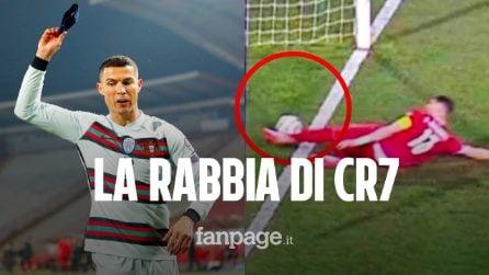 La rabbia di Cristiano Ronaldo, gol fantasma annullato col Portogallo: protesta e lascia il campo