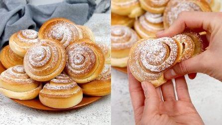 Girelle di panini dolci: buone, soffici e facili da fare in casa!