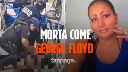 Victoria morta come George Floyd: poliziotti le spezzano le vertebre del collo con il ginocchio