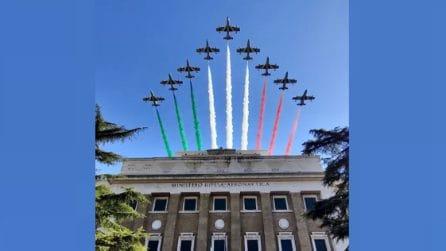 Roma, lo spettacolo delle Frecce Tricolori dell'Aeronautica Militare