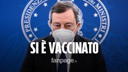 Mario Draghi si è vaccinato contro il Covid con AstraZeneca