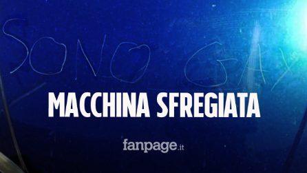 """Cofano dell'auto sfregiato con la scritta """"sono gay"""": l'episodio di omofobia a Perugia"""