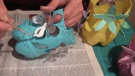 Come riutilizzare le bottiglie di plastica e decorare la tavola di Pasqua