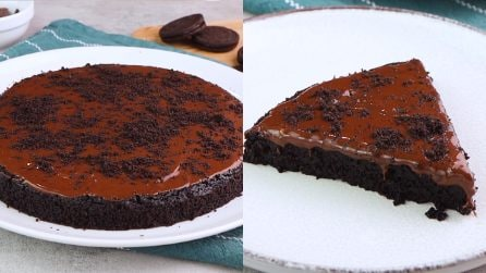 Oreo biscuits cake: the american dessert super easy to make!