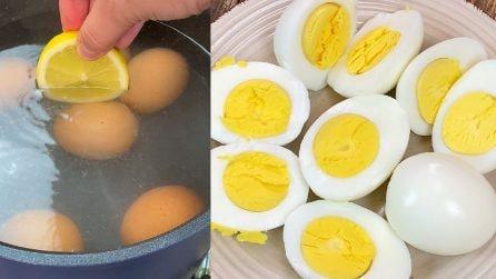 Come sgusciare le uova sode in pochi secondi: il trucchetto da provare subito!