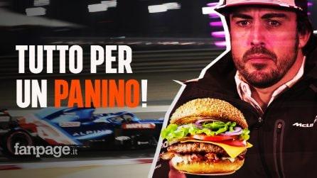 Fernando Alonso costretto a ritirarsi dal GP in Bahrain a causa di un panino: ecco cosa è successo