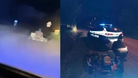 Go-Kart a grande velocità nelle strade pubbliche: il folle inseguimento della polizia