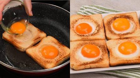 Toast con uovo a occhio di bue: una ricetta semplice per gustarsi una merenda buonissima!