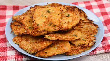 Frittelle di patate veloci: pronte in pochi minuti in padella!