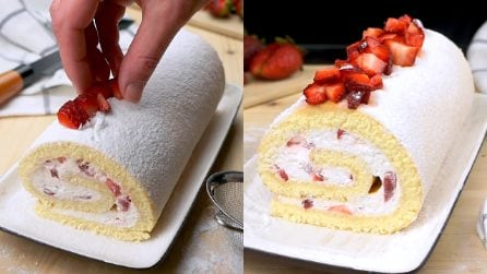 Rotolo di pan di spagna alle fragole: il dolce squisito e facile da realizzare!