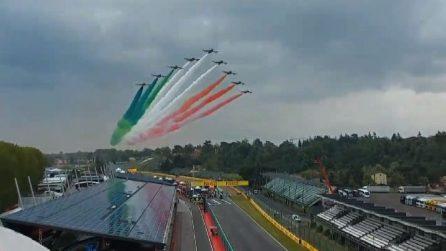 F1, lo spettacolo delle Frecce Tricolori sul circuito di Imola