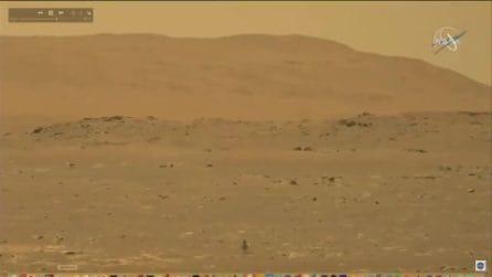 Il primo volo dell'elicottero Ingenuity su Marte