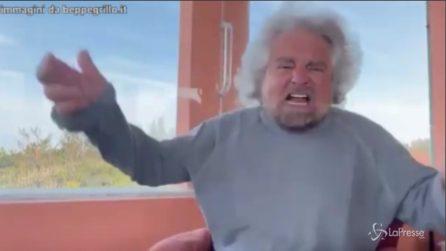 """Grillo si sfoga e difende il figlio: """"Stupratore? No è un cogl****"""""""