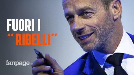 """I possibili provvedimenti della Uefa contro i """"ribelli"""" della Superlega"""